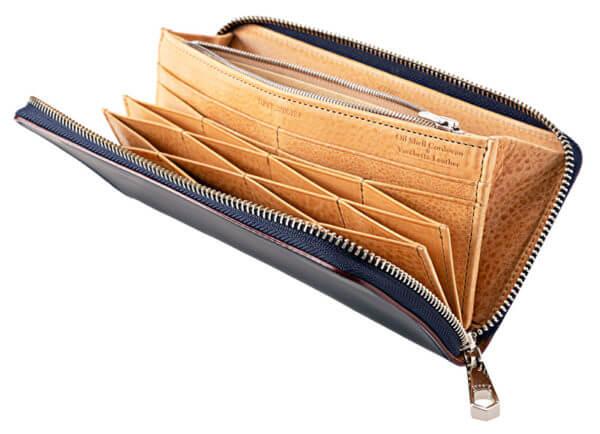 CYPRISおすすめ財布: ラウンドファスナーハニーセル長財布