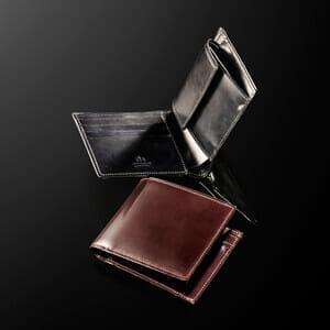 シェルコードバン 二つ折り財布