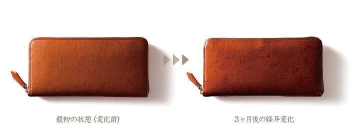 ココマイスターの財布のエイジング力