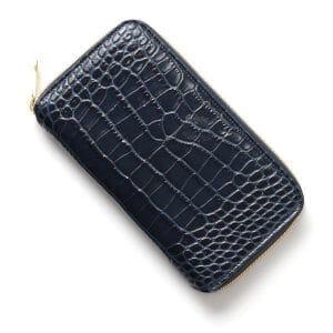 オロビアンコのクロコ風型押しラウンドファスナー長財布