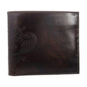 オロビアンコのレタープレス模様の二つ折り財布「FIRIPPO-I3」
