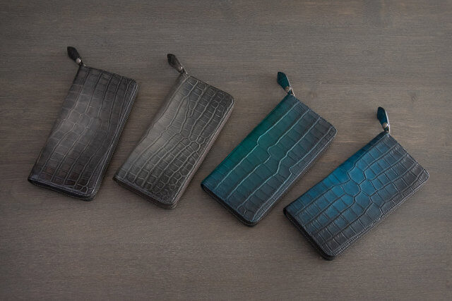 クロコダイルのワニ革を使ったYUHAKUの長財布