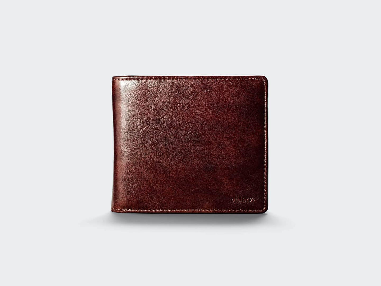 2つ折りAntique Leather二つ折り財布