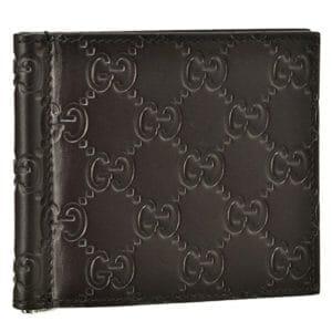 レタープレスされたグッチのモノグラムの財布