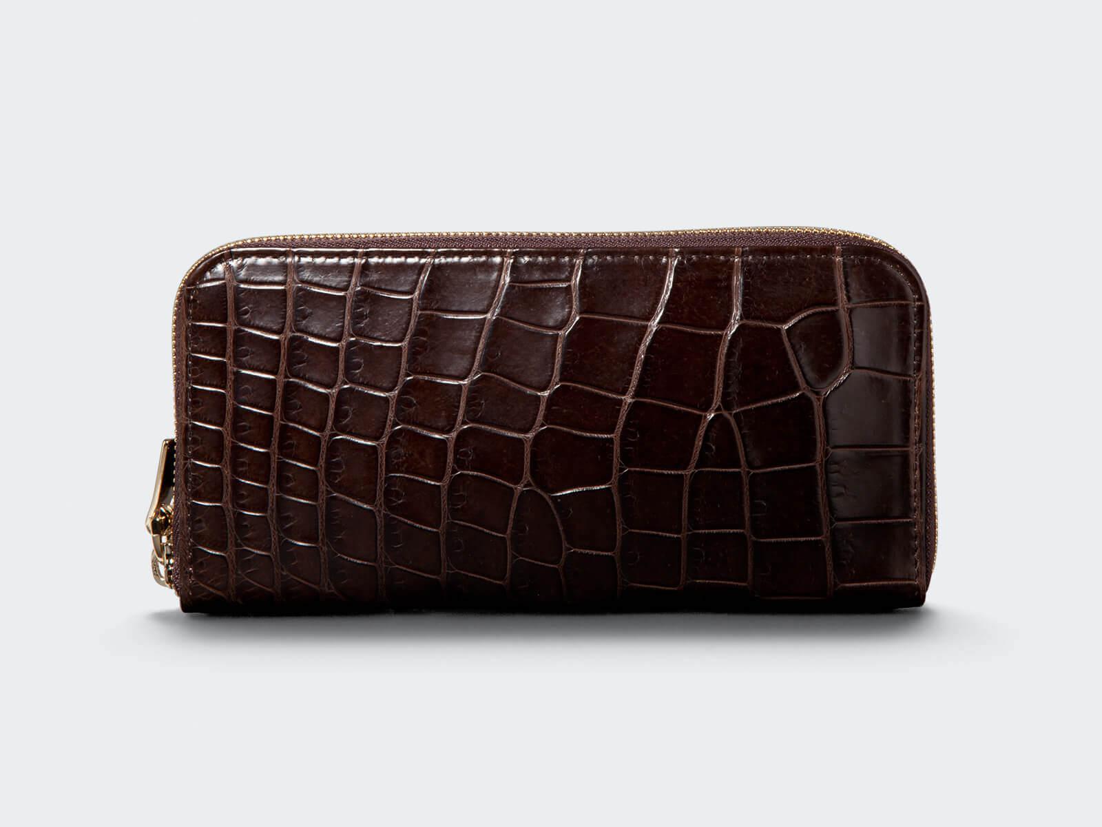 ラウンドLReal Crocodile長財布[90-20002]
