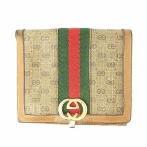Vintage old GUCCI ヴィンテージオールド グッチ モノグラム ウエイビング ウォレット (折財布)