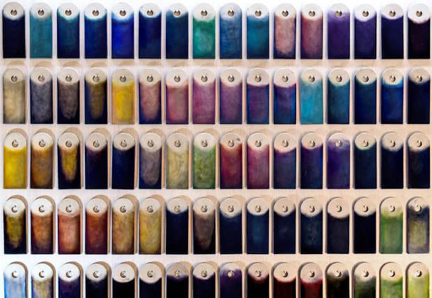 パティーヌ染色のカラーパターン