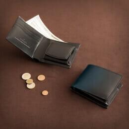 YUHAKU コードバン&ボックスカーフ 二つ折り財布