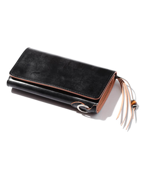 STONE HEAD FRINGE LONG WALLET