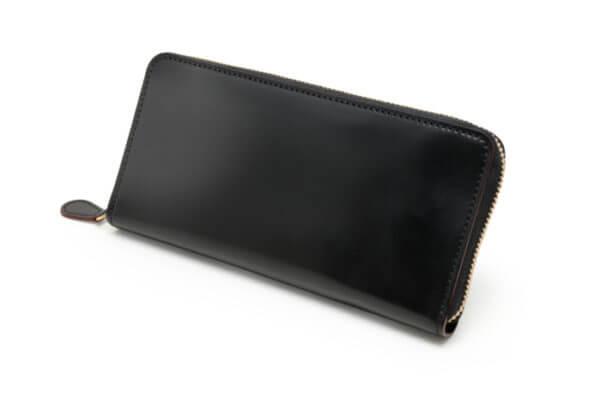 長財布:「SHELL CORDOVAN 2 (シェルコードバン2)ファスナー付き長財布」