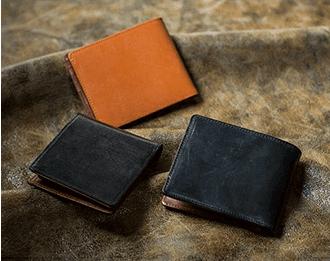 GLEN CHECK(グレンチェック)|ブライドルレザー二つ折り財布 「リツア」
