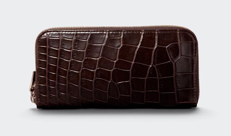 ラウンドLReal Crocodile長財布