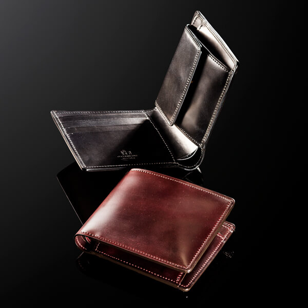 ココマイスター シェルコードバン二つ折り財布