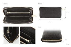 メンズレザーストアおすすめ財布:「漆塗り ラウンドジップ長財布」