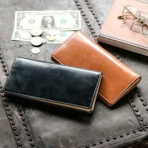 BRITISH GREENのブライドルレザー財布