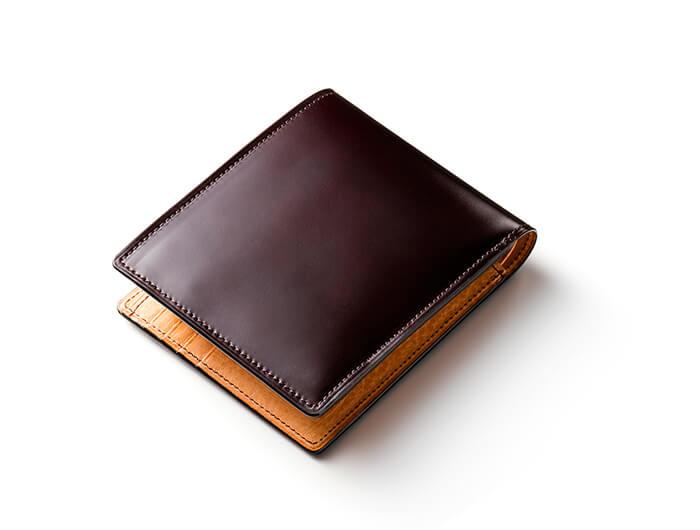 マイスターコードバン ラスティング 2つ折り財布