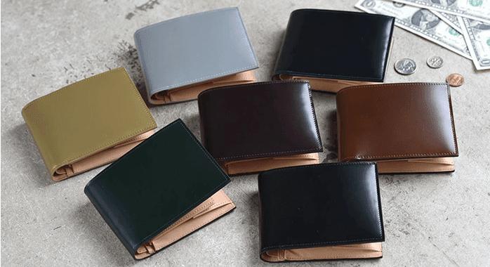 フライングホースのコードバン財布