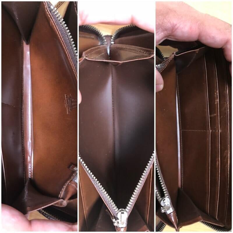 プルキャラックシリーズ クラウディオ長財布の内装