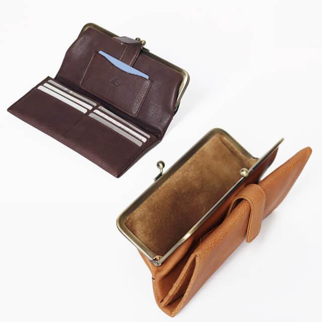 生活スタイルに最適な形のがま口財布を選べる