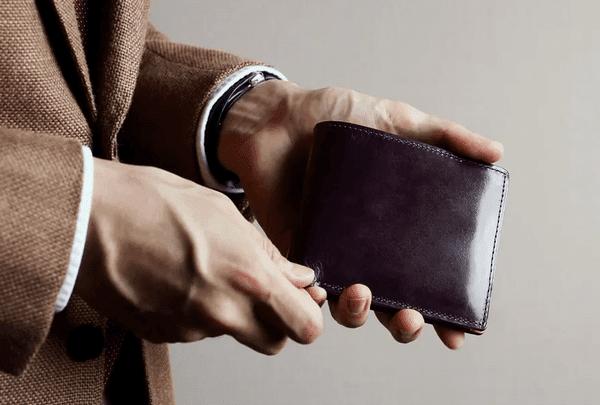 ブライドル財布のエイジング