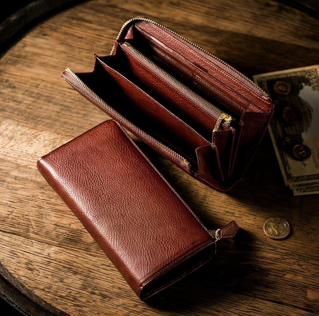 シボ革財布