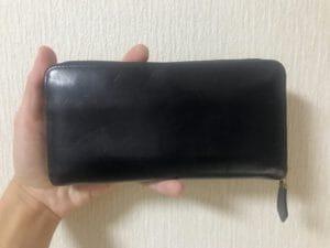【財布レビュー】ジョージブライドル ロイヤルウォレット(ダークネイビー)を2年使ってみた感想。※写真あり