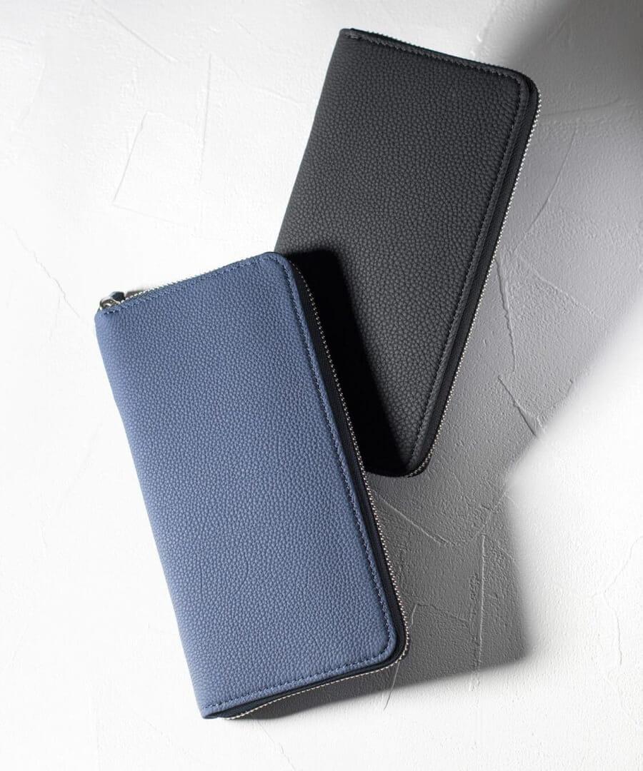 【デュプイ】バブル ラウンドファスナー長財布 カード段19