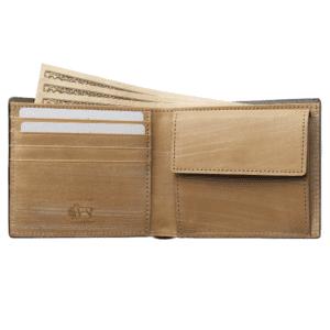 5位:ココマイスターのおすすめ二つ折り財布「ザオークバーク・マールバラ」