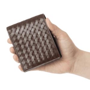 3位:ココマイスターのおすすめ二つ折り財布「ポンテマットーネ・ディーミディウム」