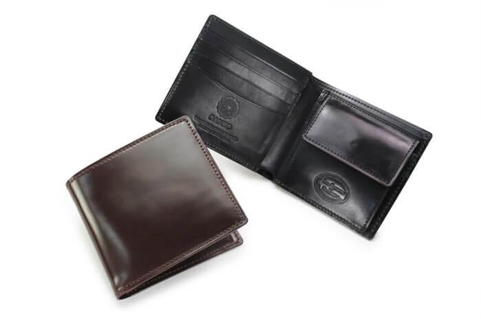 SHELL CORDOVAN 2 小銭入れ付き二つ折り財布の詳細