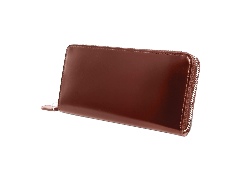 2位:ガンゾのおすすめ長財布「CORDOVAN ラウンドファスナー長財布」