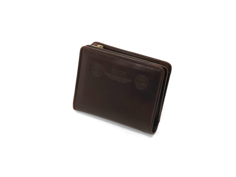 4位:ガンゾのおすすめ二つ折り財布「GH5 Lファスナー二つ折り財布」