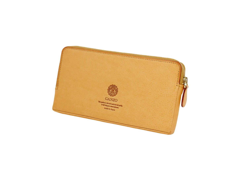 4位:ガンゾのおすすめ長財布「MINERVA NATURAL ファスナー長財布」