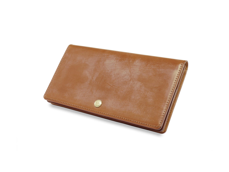 3位:ガンゾのおすすめ長財布「THIN BRIDLE コンパクト小銭入れ付き長財布」