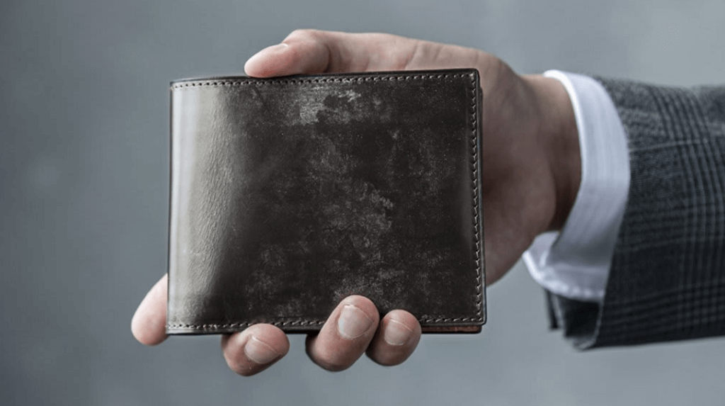 クラフストおすすめ財布:「ブライドルレザー 二つ折り財布」