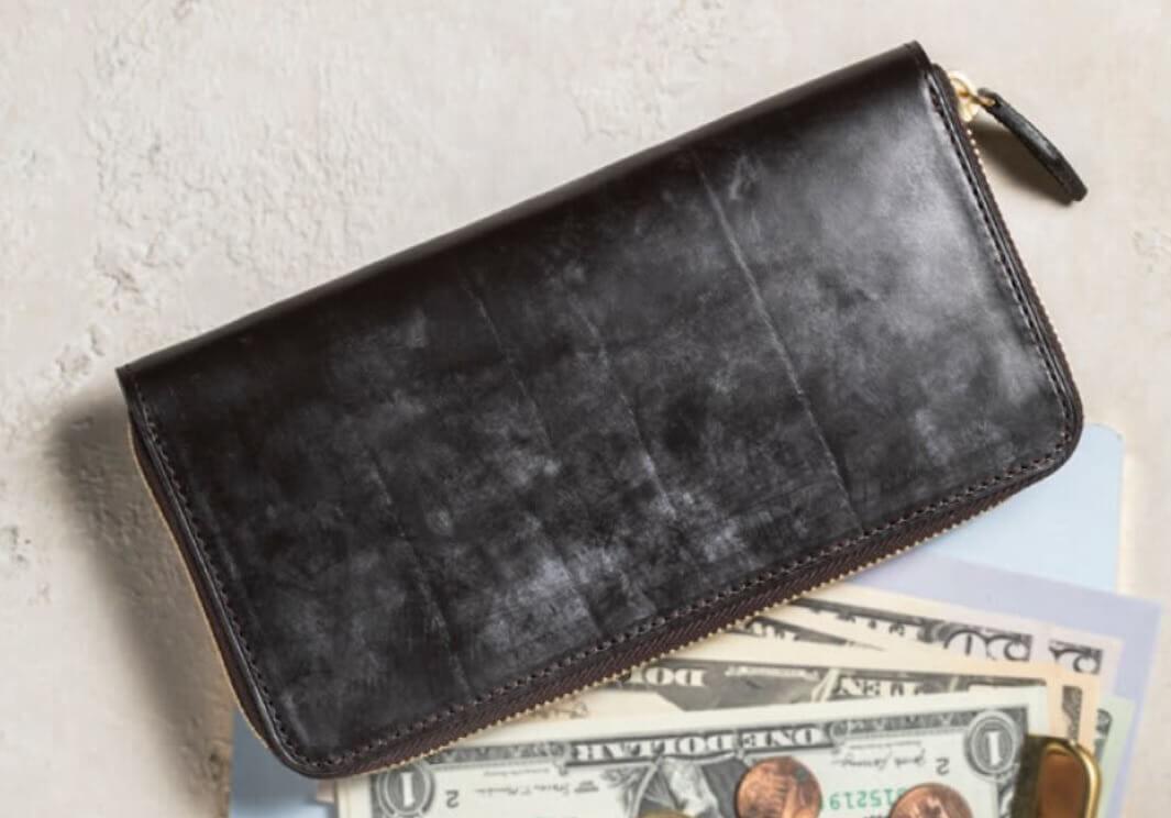 1位:BRIDLE LEATHER ブライドルレザー ラウンドファスナー長財布|crafsto(クラフスト)