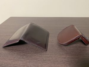 【財布レビュー】シェルコードバン:オベロン(二つ折り)を半年使った感想! ※写真付き)
