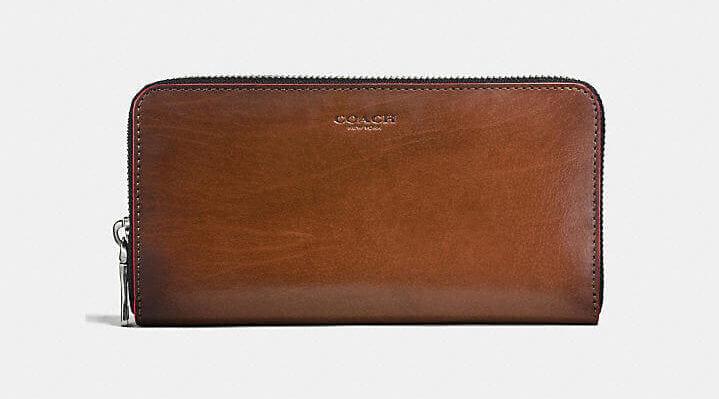 COACHおすすめ財布:アコーディオン ウォレット ウォーター バッファロー レザー