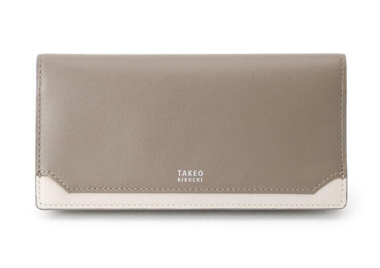 TAKEO KIKUCHIおすすめ財布:マチ付き2つ折り 長財布 エレガンス