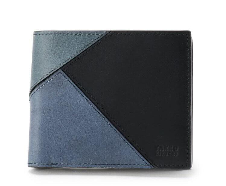タケオキクチおすすめ財布:「ブロッキング Tアンティーク 2つ折り財布」