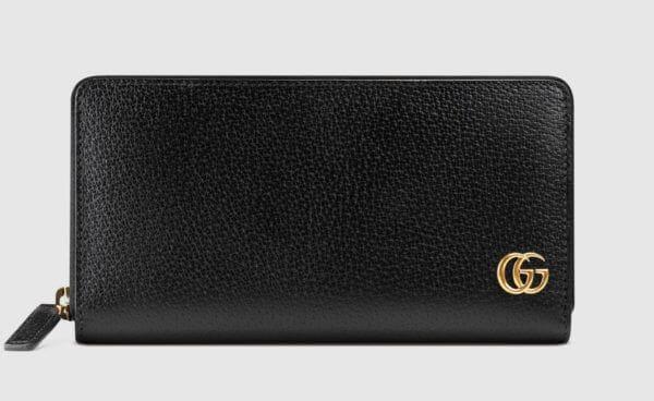 Cucciのおすすめ財布: GGマーモント レザー ジップアラウンドウォレット