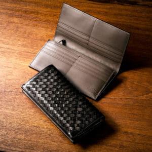 編み込み財布