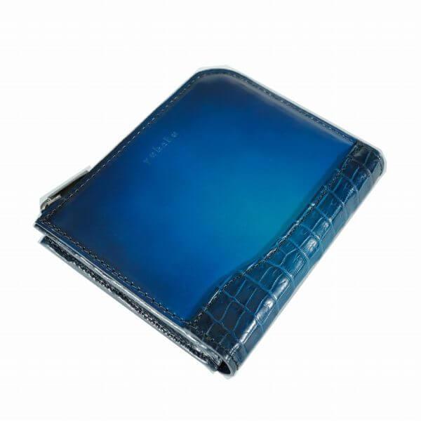 ユハクでおすすめのL字ファスナー財布:YCA134 クロコダイルコンビ コンパクトファスナーウォレット