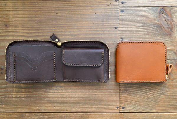 ヘルツでおすすめのL字ファスナー財布:ラウンドファスナー二つ折り財布(GS-48)