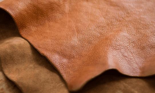 ベジタブルタンニン鞣しの革が代表的