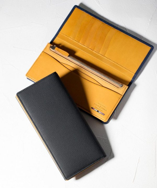 FUJITAKA: スリム長財布(カード収納13段)