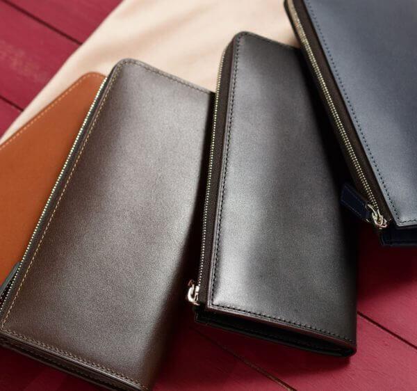 フジタカでおすすめのL字ファスナー長財布:フジタカアクセサリーズ デュプイ ボックスカーフ L字ファスナー