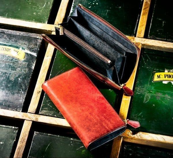 ココマイスターでおすすめのL字ファスナー長財布:ゴールドマイニング・マグネティックドラム