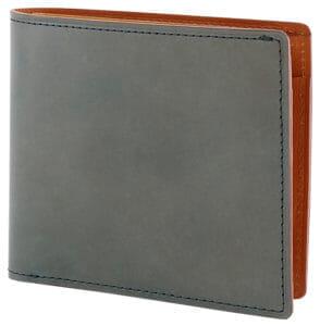 【CORDOVAN AUTHENTIC】小銭入れ付き二つ折り財布/オリーブ