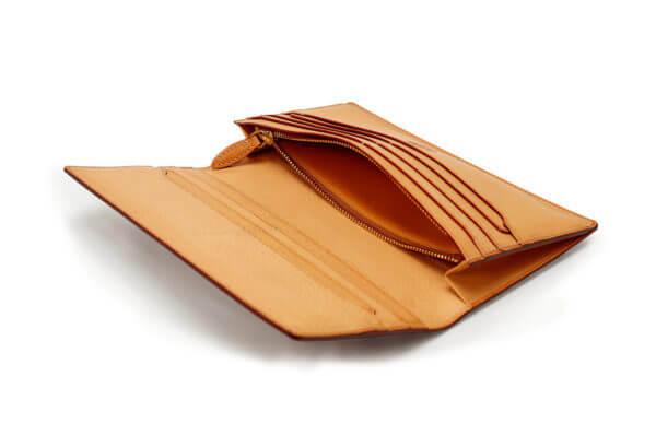 THIN BRIDLE (シンブライドル) ファスナー小銭入れ付き長財布